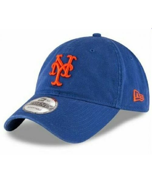 New Era New York Mets MLB Core Classic Adjustable 9Twenty Strapback Hat Blue