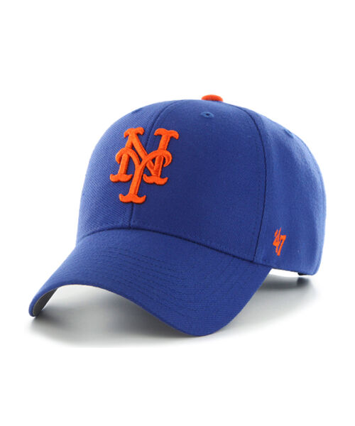 '47 Brand New York Mets MLB MVP Velcroback Hat Blue